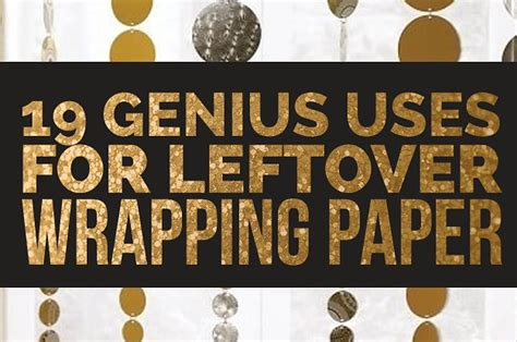 What Can U Make With Paper - 19 clever ways to use leftover wrapping paper