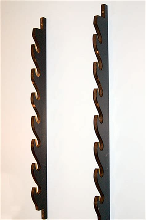 7 sword wall rack traditional weapons