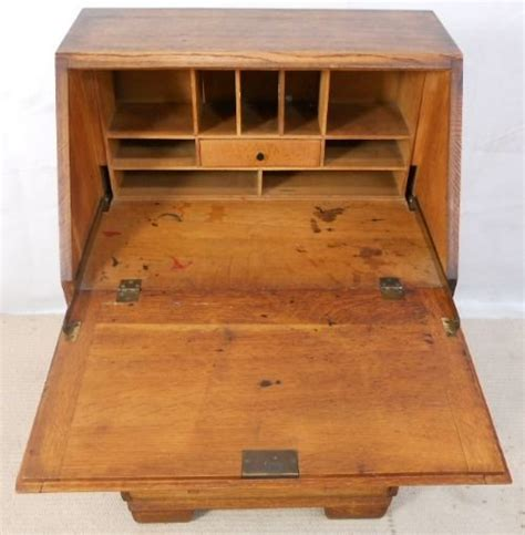 Small Oak Writing Desk Small Solid Oak Writing Bureau Desk 154305 Sellingantiques Co Uk