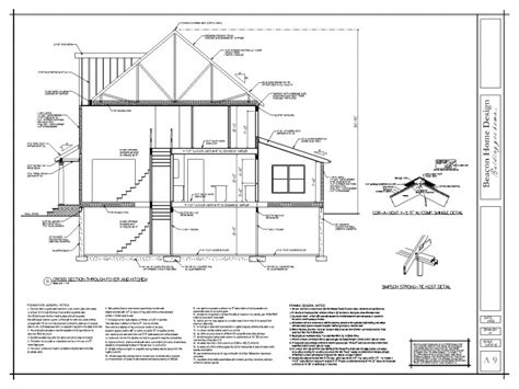 section of a house plan sle house plans of beacon home design work in ma and ri