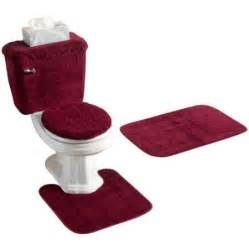 Burgundy Bathroom Rugs Kimball Burgundy 5 Bath Set Walmart