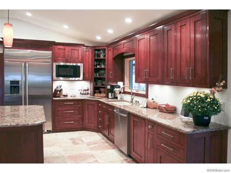 cherry cabinets with light counters kitchen pinterest cherry cabinets stainless steel light floors n light