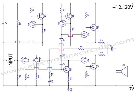 transistor in lifier circuit class ab transistor power lifier circuit diagram electronic circuits