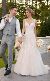 Brautkleider Stella York by Wedding Dresses Sparkling Silver Lace Wedding Dress