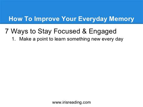 24 Ways To Boost Your Intelligence Every Day Marketing And Entrepreneurship Medium How To Improve Your Everyday Memory