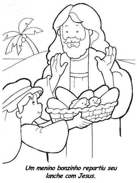 coloring page five loaves two fish crescendo com cristo colorir desenhos b 237 blicos