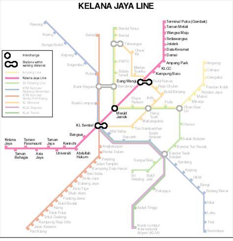 Lrt Monorail Ktm Map Image Gallery Laluan Lrt