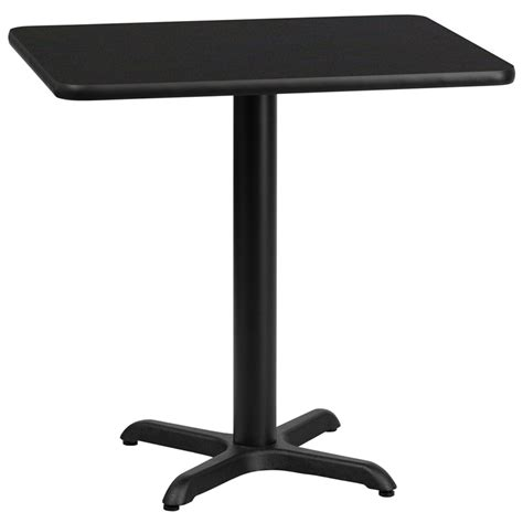 24 x 30 table 24 x 30 rectangular black laminate table top with 22