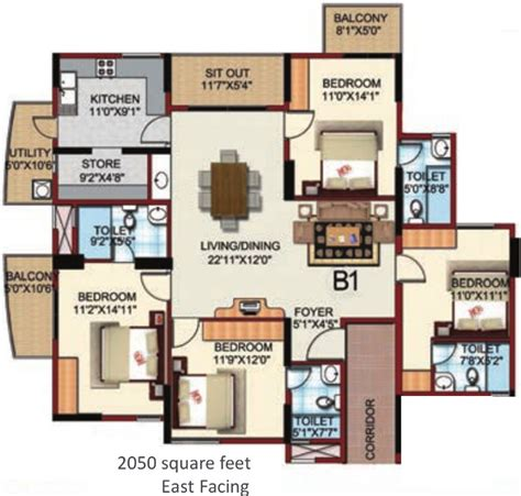serenity floor plan 2050 sq ft 4 bhk 4t apartment for sale in monarch properties serenity jakkur bangalore