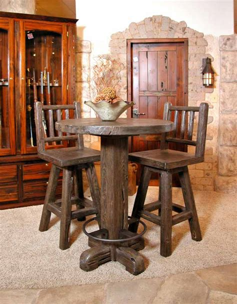 wood bar table and stools custom bars bar stools tables home or restaurant bars