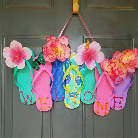 flip flop craft projects flip flop wreaths for summer crafty morning
