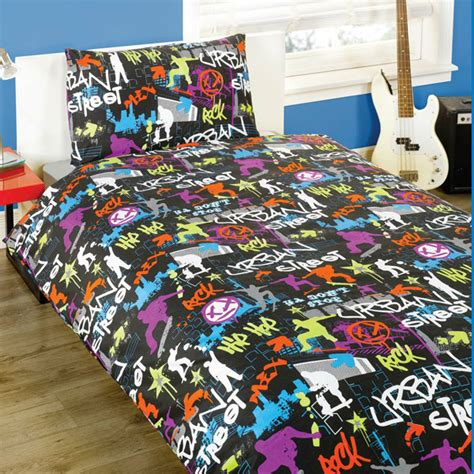 graffiti bedding urban street black duvet set harry corry limited