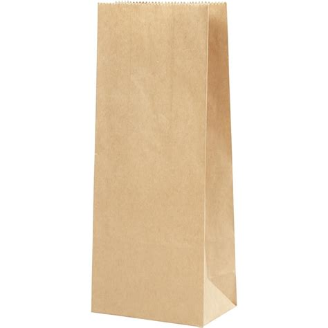 Paper Bag 10x8x17 5 Cm paper bag size 10x6x24 cm 50 g brown 100pcs 23372