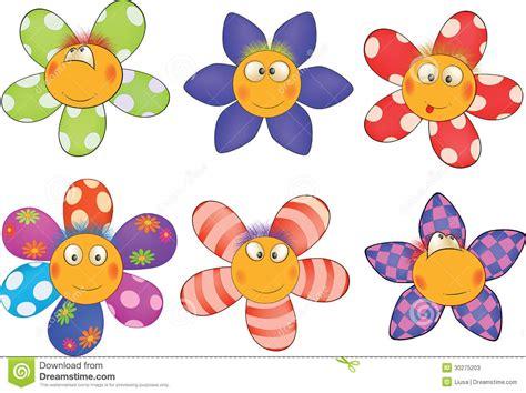imagenes alegres y coloridas flores pequenas alegres desenhos animados fotos de stock