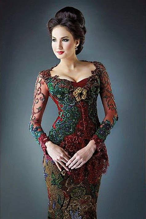 desain long dress remaja model kebaya modern 2014 cremedemoda ethnic dresses