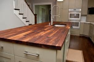 Kitchen Island Butcher Block Tops Custom Walnut Butcher Block Counter Contemporary