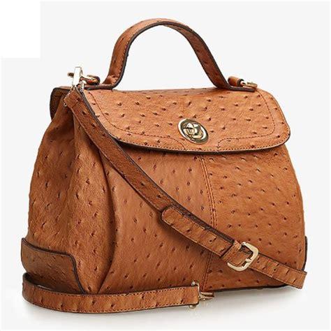 ecocity ostrich design leather handbags purse