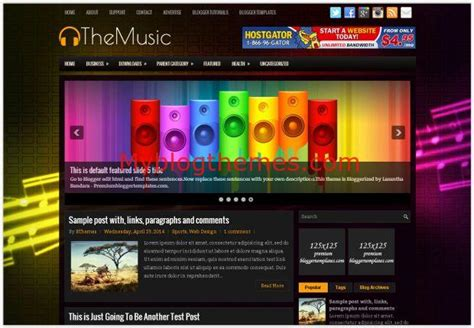 Free Blogger Themes Music | online music streaming blogger template