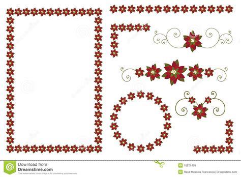 clipart bordi bordi e decorazioni poinsettia di natale illustrazione