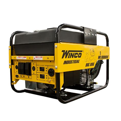 winco portable generator wl18000ve 18 kw 31 hp big block