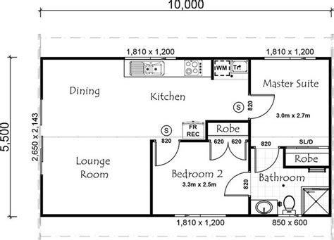 2 bedroom guest house plans 2 bedroom guest house floor plan guest house pinterest