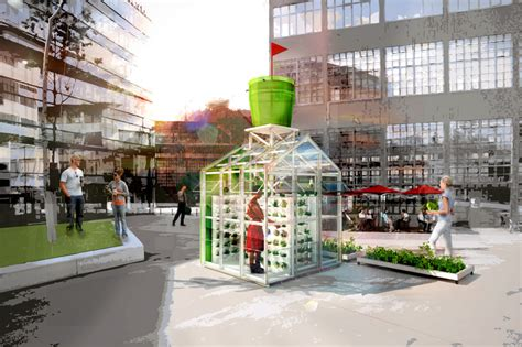 urban green house modular urban greenhouse protects plants from air