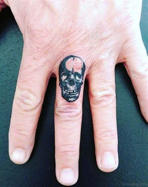 skull tattoos on hands 80 awesome finger tattoos for