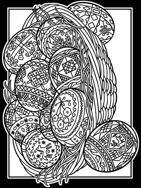 pysanky eggs coloring page free easter stained glass coloring pages