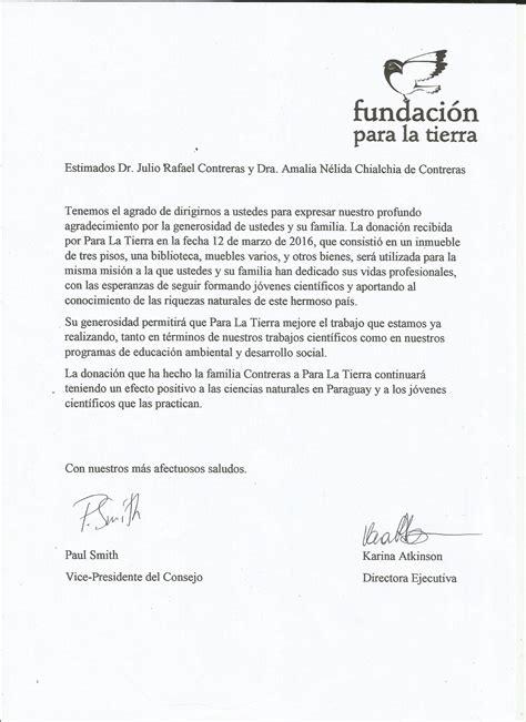 carta de agradecimiento por donacion archivo carta de agradecimiento al prof julio r