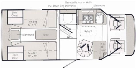 rialta floor plans winnebago rialta vw 22fd model autos post