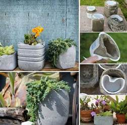 diy concrete planters 1001 gardens