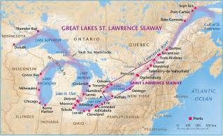 map of canada st river st seaway inland superhighway canadian geographic