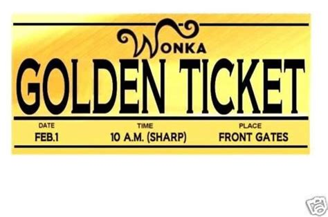 Willy Wonka Golden Ticket Template Clipart Best Free Golden Ticket Template Editable