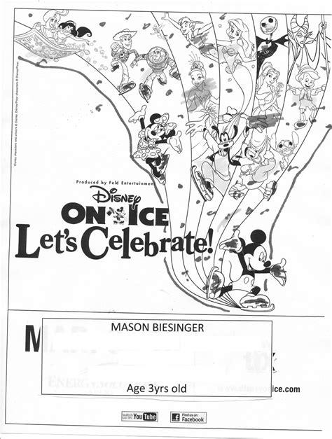 coloring pages disney on ice enjoy utah winner disney on ice coloring contest