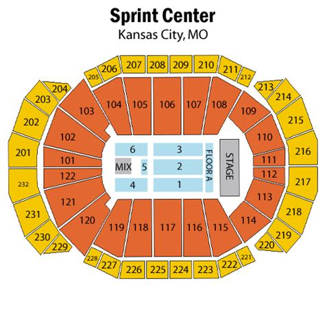 sprint center seating chart reba mcentire october 29 tickets kansas city sprint