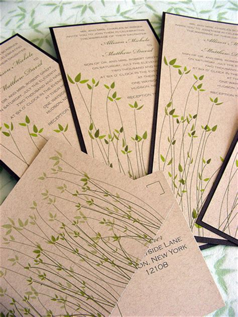 Wedding Invitations Recycled Paper by Help Save Earth Top 10 Tips For Planning A Green Wedding