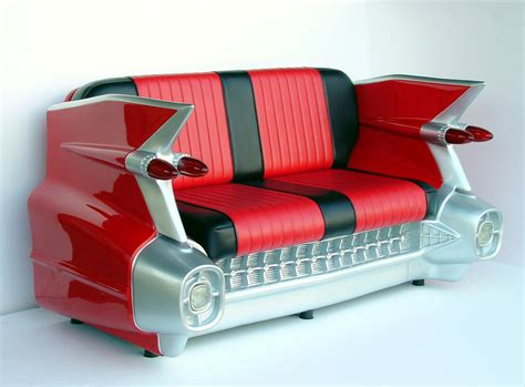 car sofas retro 59 red cadillac sofa