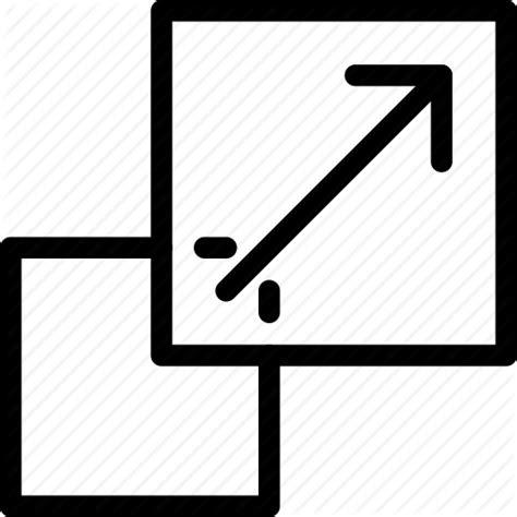 design icon size change size design line icon resize scale scale tool
