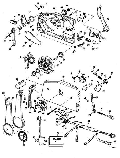 Evinrude Remote Control Parts for 1979 175hp 175949R