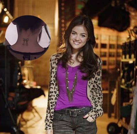 lucy hale tattoo check out hale s pretty