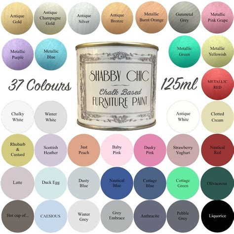 shabby chic paint colors shabby chic chalk paint for furniture 125ml matt finish