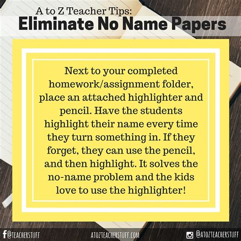 No Name Essay by Managing Papers A To Z Stuff Tips For Teachers