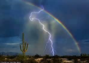 Of Lightning Strike Eiffel Tower And Statue Of Liberty Among World Landmarks