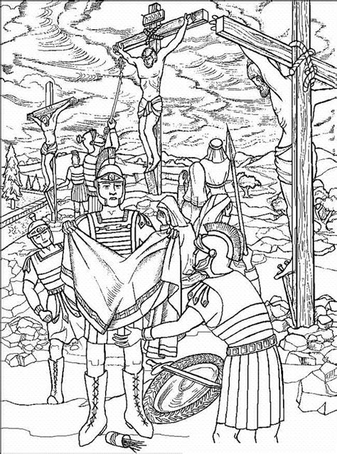 free coloring pages of the stations of the cross