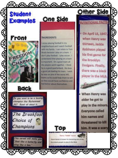 cereal box biography book report student book reports and cereal boxes on