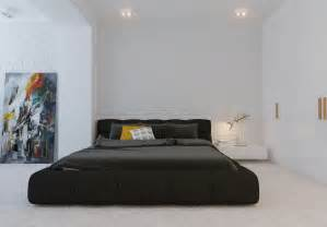 Minimalistic Bedroom Modern Minimalist Black Bedroom Pillow Design Olpos Design