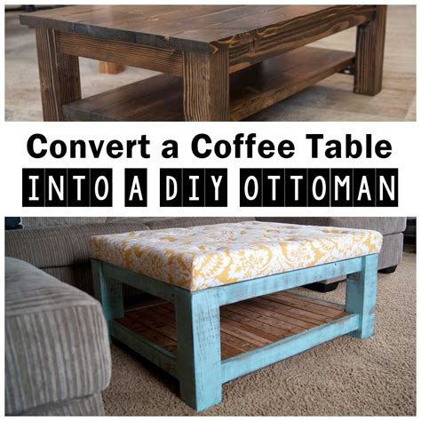 Coffee Table Turned Ottoman Coffee Table Turned Diy Ottoman Frugal Living For