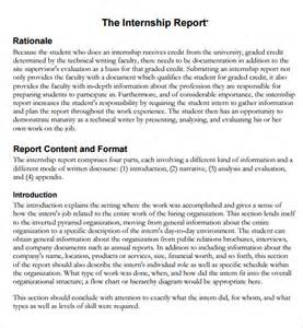 Internship Report Outline by Sle Internship Report Sle 7 Free Documents In Pdf Word