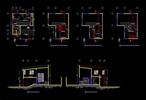 house  studio dwg block  autocad designs cad