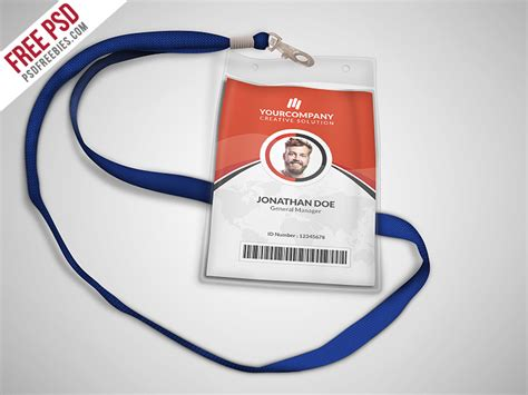 office id card template free multipurpose office id card template psd psdfreebies